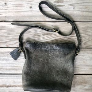 Coach Pebble Leather Gray Sonoma Bucket Bag